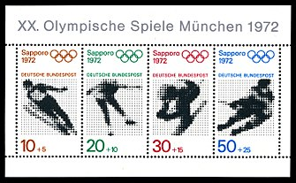 Stamps of Germany (BRD), Olympiade 1972, Blockausgabe 1971, Markenblock.jpg