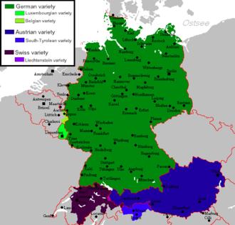 Standard German - The national and regional standard varieties of the German language after 1945.