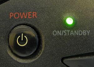 Standby power - Image: Standby indicator