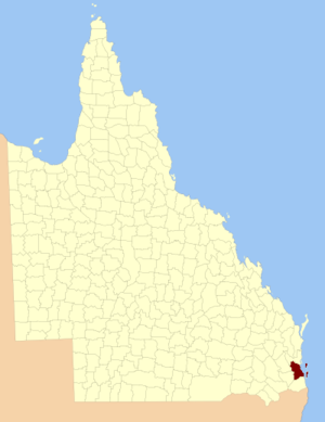 County of Stanley, Queensland - Location within Queensland