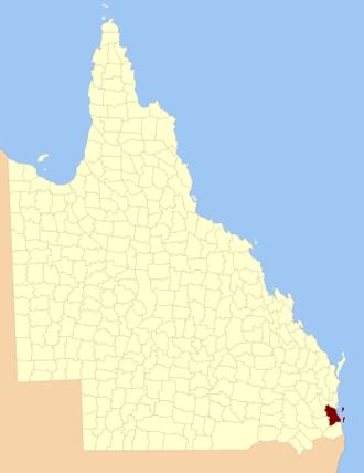 County of Stanley, Queensland - Location within Queensland