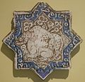Star tile with animals from Iran, early 14th century, HAA.JPG
