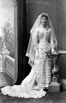 Margaret Murray-Prior, 1 March 1882. Victorian wedding dress.