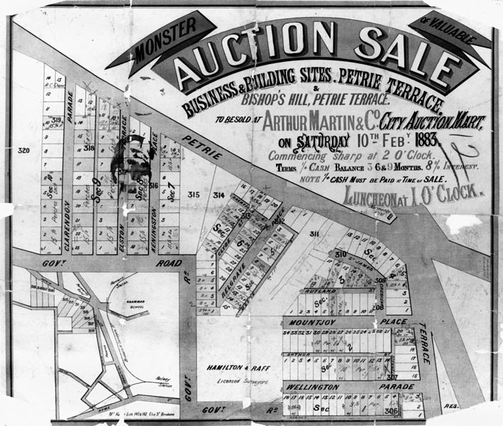 File statelibqld 2 196419 estate map of bishop 39 s hill for Queensland terrace state library