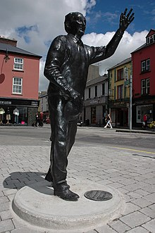 Statue of John B. Keane in Listowel, County Kerry.