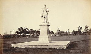 William Peel (Royal Navy officer) - Statue of William Peel in the Eden Gardens, Calcutta in the 1860s.