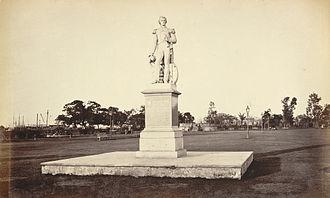 William Peel (Royal Navy officer) - Statue of William Peel in the Eden Gardens, Calcutta in the 1860s.