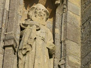 English: Statue of St Joseph of Arimathea, wes...