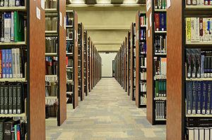 Bookcase - Parallel arrangement of bookshelves