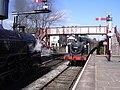 Steam Train arriving at Ramsbottom Railway Station - geograph.org.uk - 1226312.jpg