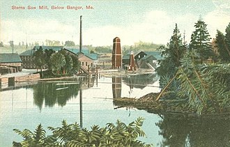 Bangor, Maine - Sterns Sawmill, below Bangor