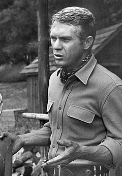 A photograph of Steve McQueen as Josh Randall in the television series Wanted Dead or Alive.