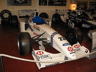 Stewart Grand Prix -  Stewart SF01, driven by Jan Magnussen in Stewart's debut season. From The Donington Collection.