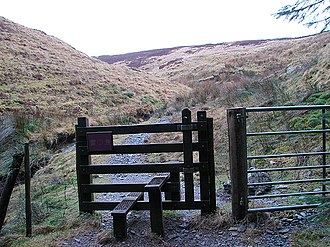 Pumlumon Cwmbiga - Image: Stile leading onto Pumlumon Cwmbiga geograph.org.uk 1126146