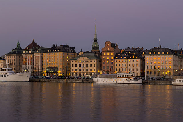 """""""Stockholms Old Town seen from Skeppsholmen"""" by Brorsson - Own work. Licensed under Creative Commons Attribution-Share Alike 3.0 via Wikimedia Commons - https://commons.wikimedia.org/wiki/File:Stockholms_Old_Town_seen_from_Skeppsholmen.jpg#mediaviewer/File:Stockholms_Old_Town_seen_from_Skeppsholmen.jpg"""