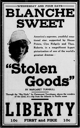 Stolen Goods (film) - Newspaper advertisement