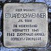 Stolperstein Gutenbergstr 20 Schwemmer Eduard