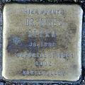 Stumbling stone for Moses Stern (Friedrichstrasse 40)