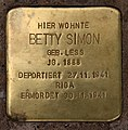 Stolperstein Kleiststr 31 (Schön) Betty Simon.jpg