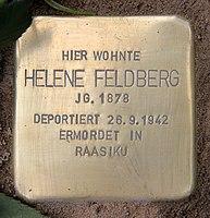 Stolperstein Luitpoldstr 13 (Schön) Helene Feldberg.jpg