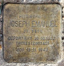 Stolperstein wullenweberstr 11 (moabi) joseph emanuel