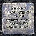 Stolperstein Zeltinger Str 65 (Frohn) Karl Neuhof.jpg