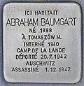 Stolperstein für Abraham Baumgart (Bordeaux).jpg