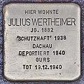 Stolperstein für Julius Wertheimer (Heidelberg).jpg