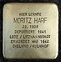 Stumbling block for Moritz Harf (Schaurtestrasse 1)
