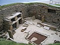 Stone furnished dwelling at Skara Brae - geograph.org.uk - 1574824.jpg