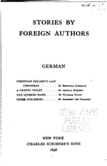 Stories by Foreign Authors (German II).djvu