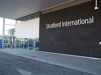 Stratford International station - National Rail station entrance