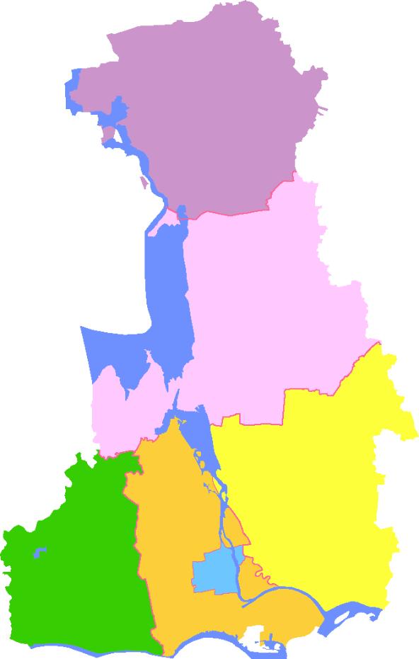Subdivisions of Yangzhou, China
