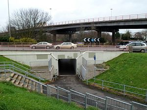 Subway (underpass) - Image: Subway under Gabalfa Interchange, Cardiff