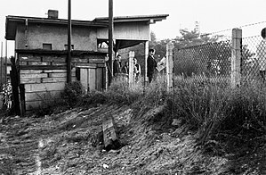 Deutsche Reichsbahn (East Germany) - Patchwork conditions on the West Berlin S-Bahn were illustrated in 1969 by this station on the Lichterfelde-Süd Line.