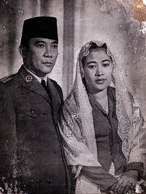 First Lady and First Gentleman of Indonesia - Image: Sukarno and Fatmawati