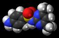 Sulfadimidine molecule spacefill.png
