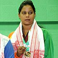 Suma Chowdhury (Bangladesh) won the bronze medal in 55kg female wrestling, at 12th South Asian Games-2016, in Dispur, Guwahati on February 06, 2016 (cropped).jpg