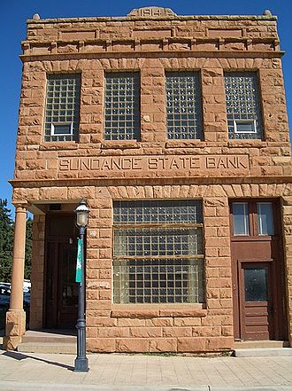 Sundance, Wyoming - The Sundance State Bank Building on Main Street is on the National Register of Historic Places listings in Crook County, Wyoming