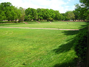 Sunken Garden (Virginia) - View of the Sunken Garden from its southwest corner