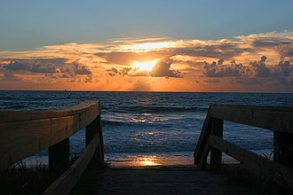 Ponte Vedra Beach, Florida - Image: Sunrise over Ponte Vedra