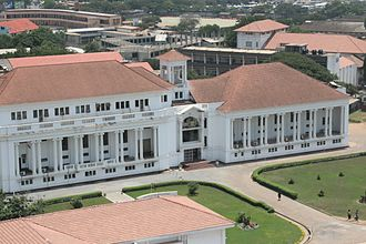Supreme Court of Ghana - Aerial view of the Supreme Court building.