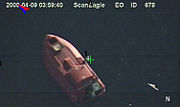 Surveillance photo of Maersk Alabama lifeboat, hijacked by pirates 090409-N-0000X-926