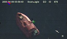 Surveillance photo of Maersk Alabama lifeboat, hijacked by pirates 090409-N-0000X-926.jpg