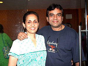 Paresh Rawal - Paresh Rawal and Swaroop Sampat at the screening of the film Oye Lucky! Lucky Oye!