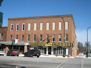 George's Block - Many of the windows on George's Block have been replaced or boarded up.