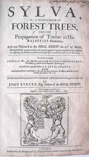 Cider in the United Kingdom - Title page of second edition of Sylva, In 1702, the Pomona appendix was added.