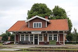 Den tidligere jernbanestation i Tärnsjö.