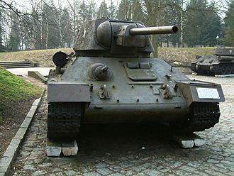 76 mm tank gun M1940 F-34 - The F-34 was the standard gun on the T-34 medium tank. Shown here is a T-34 Model 1943.