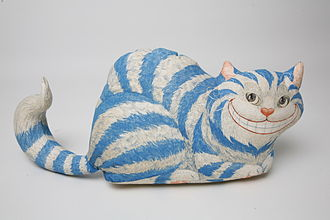 Cheshire Cat - A Cheshire cat stuffed toy from The Children's Museum of Indianapolis
